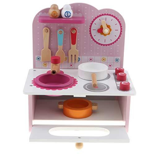 B Blesiya Kinderküche Spielzeug Set inkl. Topf und Pfannen + Herd + Geschirrspüler + Geschirr Set und andere Zubehör (Geschirrspüler Töpfe Und Pfannen)