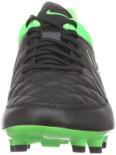 Nike - Tiempo Genio Leather Fg, Scarpe da calcio Uomo Nero (Schwarz (Black/Black-Green Strike-Green Strike 003))