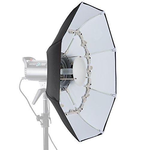 Neewer 70 cm Faltbare Beauty Dish Achteckig mit zentraler Reflektorscheibe, Abnehmbarer vorderer Diffusor und Bowens Speed Ring für Monolicht Studio Blitz in Portrait und Veranstaltungsfotografie Speed Ring-strobe