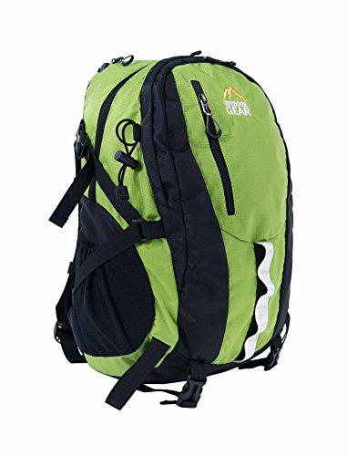Outdoor Gear 1122Zaino/Zaino Campeggio Trekking Sport Borsa Da Viaggio, Uomo Unisex Donna, 1122, Black/Navy Blue Black/Lime