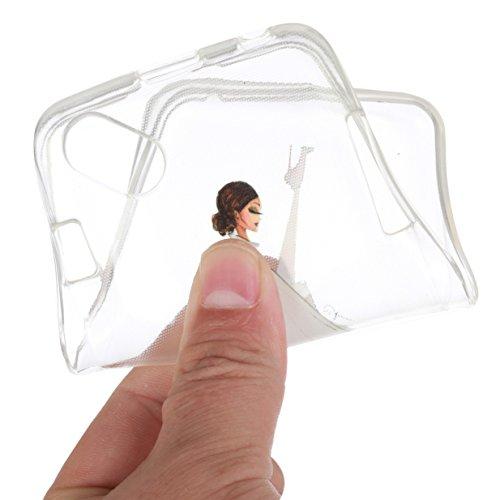 WYSTORE pour Wiko Sunny / Wiko Sunset 2 Vogue Gel Housse étui de téléphone mobile ,TPU Silicone Matériau Transparente Ultra Mince Supérieur Semi Transparent Doux Coque pour Wiko Sunny / Wiko Sunset 2  A02