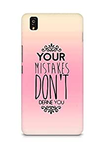 AMEZ your mistakes dont define you Back Cover For OnePlus X