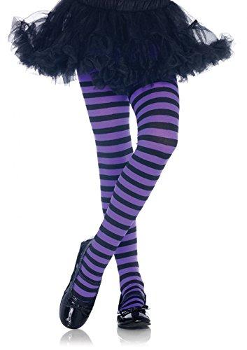 Leg Avenue 4710 - calze a righe, formato: XL, nero / viola