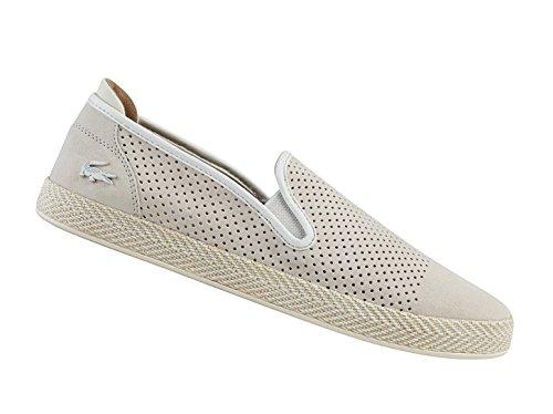 Lacoste Herren Slipper - Tombre - Weiß Schuhe in Übergrößen NATURAL|WHITE