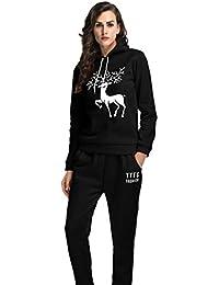 YiLianDa Femme Survêtement Hoodies Sweat-Shirts Pantalons Sports Set