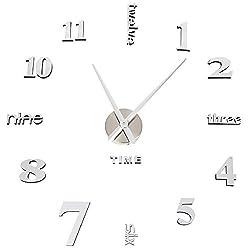 ✔Perché scegliere SOLEDI Orologio da Parete? ▶【Materiale di Alta Qualità】Il moderno quadrante dell'orologio lussuoso che resiste all'usura e alla corrosione; le lancette di alluminio sono di alta qualità e leggere, facile da mantenere l'equilibrio pe...