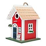 MEWANG Kunstvolle Vogel-Hause mit moderner Form ist aus Holz gemacht und hat eine Lange Gebrauchsdauer und ist insekt-Resistant