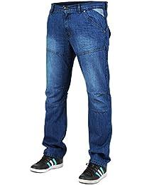 newfacelook Men's Straight Fit Jeans Designer Fashion Denim Pant Trousers