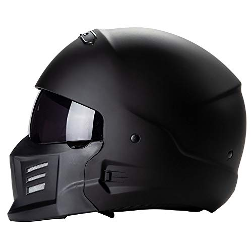 Casco Integrale Moto Un Casco Versatile Leggero Casco Moto Samurai Ghost Face DOT Certification Four Seasons General Casco Jet Moto