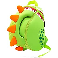 WKBY Children Toddler Kids Backpack Cute Dragon Waterproof Funny Dinosaur school bag For Pre School Girls Boys Kids Children 3D Cartoon Bags