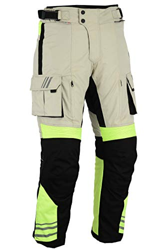 Bikers Gear Armoured pantaloni CE 1621-1, ad alta visibilità, uk30s-eu40s