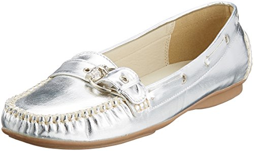 Andrea Conti 0873010, Mocassins Femme Silber (Silber)