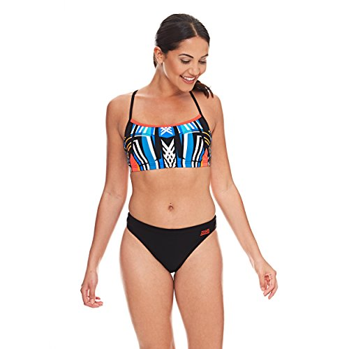 Zoggs Damen Navajo 2-Piece Bikini-Oberteil Black/Multi-Colour