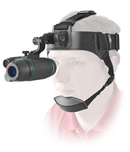 Yukon Nachtsichtgerät Spartan NVMT-4 1x24 inklusive Kopfhalterung, Stativanschlussgewinde und leistungsstarkem Infrarotsensor für Beobachtungen in völliger Dunkelheit, schwarz