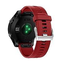 Suweqi replacement watch straps, 22 mm strap for Garmin Fenix5 Forerunner 935 GPS watch quick release Easyfit, red