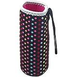 Malloom®500ML caliente térmico aislamiento térmico botella de agua bolsas termo taza bolso (negro)