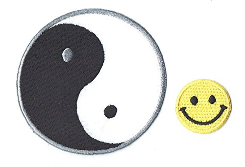 YING YANG SIGN Applique embroidered iron on PATCHES by PATCH CUBE