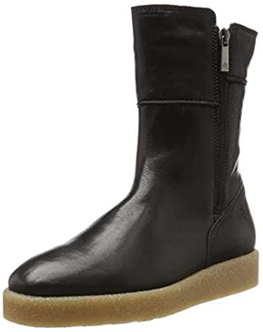 Marc O'Polo Flat Heel Bootie 70914296001127, Bottes Souples Femme, Schwarz (Black), 37,5 EU