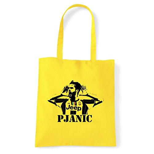 Art T-shirt, Borsa Shoulder Miralem Pjanic, Shopper, Mare Giallo