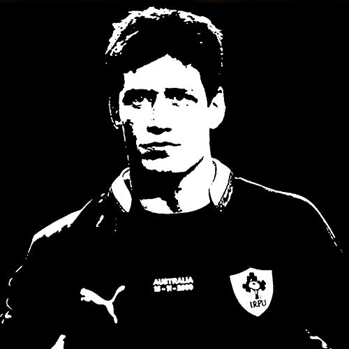Ronan o 'gara - modern hand painted picture - Pop Art Effect (size 50 x 50 cm)