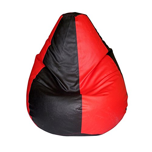 Comfort Bean Bags XXXL Bean Bag Cover  Red   Black