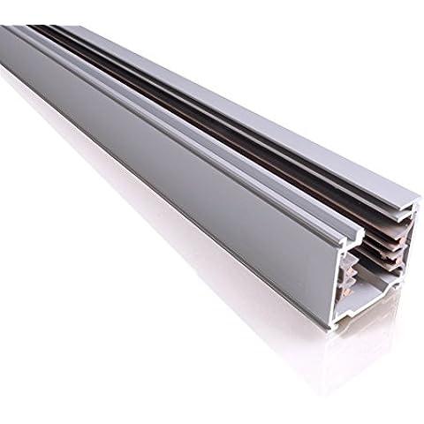 IVela 7511-30-42 3 Metri Binario Trifase Quadro Anodizzato Alluminio 33x36 Track