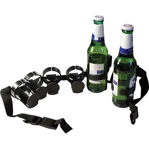 Cintura porta birre con 6 attacchi cinturone per bottiglie o lattine