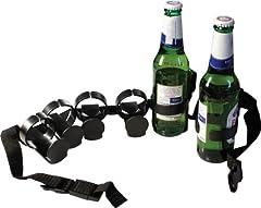 Idea Regalo - Cintura porta birre con 6 attacchi cinturone per bottiglie o lattine