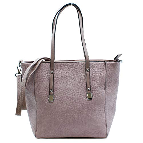 MISEMIYA - Borsa a Mano Donna Pochette e Clutch Borse a mano e a spalla mano borsa SR-J482(37 * 30 * 13) - Rosa