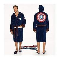 Groovy Marvel Captain America Badjas, Polyester, Blauw, Heren