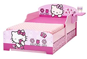 Worlds Apart 864815 Hello Kitty Lit avec Rangements Bois Rose 145 x 77 x 59 cm