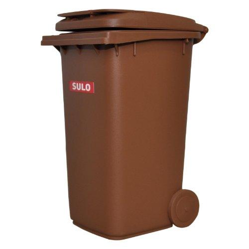 inal SULO große Ausführung 240 Liter BRAUN Miniatur Behälter Aufbewahrung Tischmülleimer Stiftehalter Büro Spielzeug Sammlerstück ()