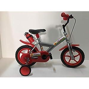 """41n5d9fgNVL. SS300 Skipper Bici Bicicletta Modello Ruote Piene PLASTICA Bimbo Bambino 12"""" con ROTELLE"""