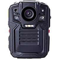 Angin-Tech Cam102 Visión Nocturna Infrarroja 1080P HD Cuerpo de Policía Worn Cámara de Vídeo de la Seguridad del IR Cam Construido en la Tarjeta GPS Ayuda de Detección de Movimiento + 16GB TF (Incluye 16 GB TF Tarjeta)