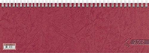 Baier & Schneider Querkalender Querterminbuch, 1 Woche/ 1 Seite, 297 x 100 mm, Karton, rot 2018
