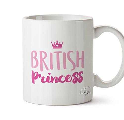 hippowarehouse British Prinzessin 283,5Tasse, keramik, weiß, One Size (10oz) (Festzug Becher)