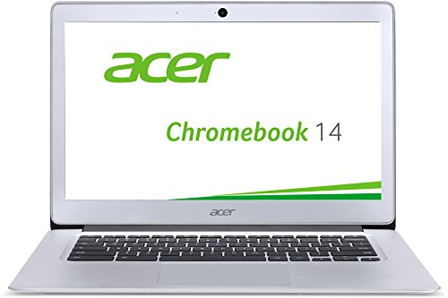 Acer E Laptop 14 (Acer Chromebook 14 CB3-431-C6UD 35,6 cm (14 Zoll Full HD IPS matt) Notebook (Intel Celeron N3160, 4GB RAM, 32GB eMMC, Intel HD Graphics, Google Chrome OS) silber)