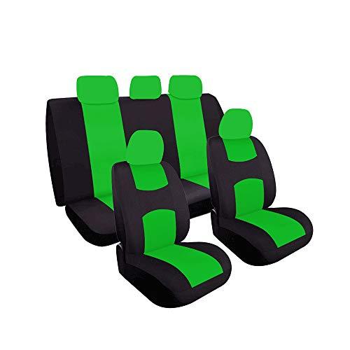 L&K Autositzbezüge Set Universal Easy Carry Fit Die meisten Autoabdeckungen mit Autoinnenzubehör 9 Set,Grün