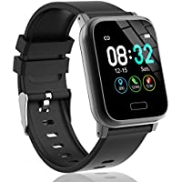 L8star Fitness Trackers, Activity Trackers with Heart Rate Monitor 1.3inches Large Color Screen Step Counter Calorie Counter Sport Fitness Smart Watch Sleep Monitor for Men Women Android IOS (Black)