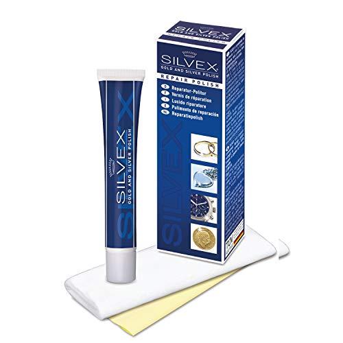 Silvex Reparatur-Politur - Geeignet für GOLD und SILBER - Entfernt leichte Kratzer und Gebrauchsspuren aus Edelmetallen - Reinigt, poliert und versiegelt die behandelten Oberflächen - C4630117