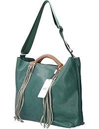 Chiara Design Damen Handtasche PU Leder Umhängetasche Ökoleder  Schultertasche Crossbody groß Henkeltasche für Frauen, mit 4fb921fa17