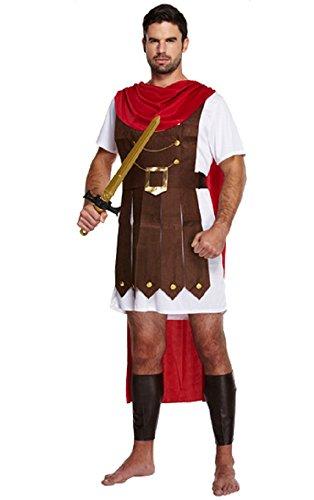 Fancy Me Herren Erwachsene Römische Soldat Gladiator General Historisch Kostüm Kleid Outfit - Multi, STD