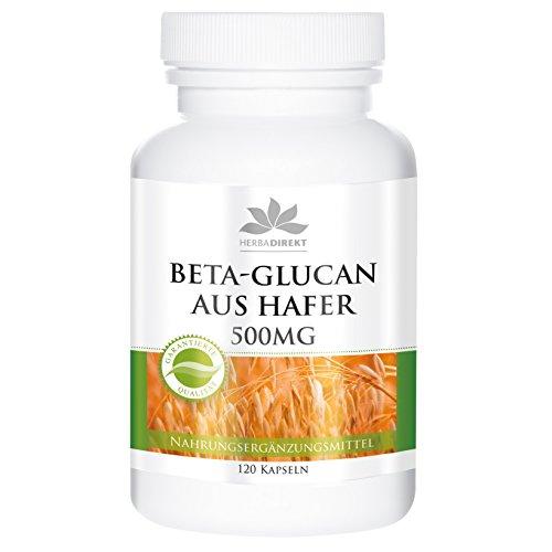 Betaglucano de avena de herba direkt- 500mg con 70% de polisacáridos - 120 cápsulas
