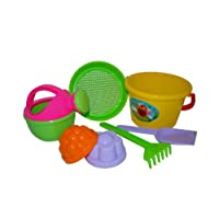 Polesie 4368 204 Sieve 2 Forms Watering Can No. 4 Small Shovel No. 1 Rake No. 1-Sets: Bucket, Medium, Multi Colour
