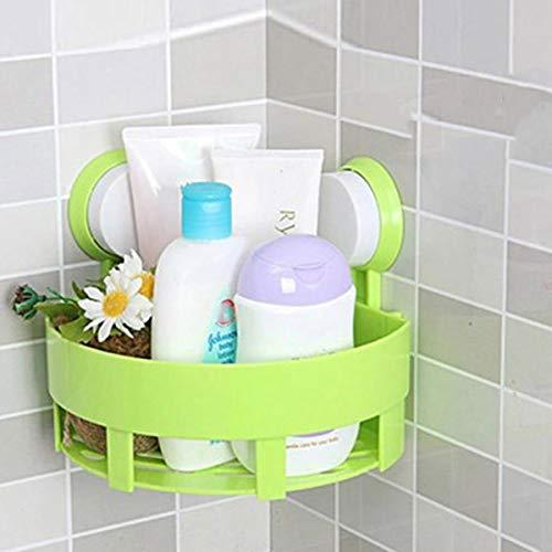 Jinxuny Saug Ecke Rack Regal Organizer Caddy Lagerung Badezimmer Dusche Wand Korb (Color : Green) - Ecke Wand Lagerung