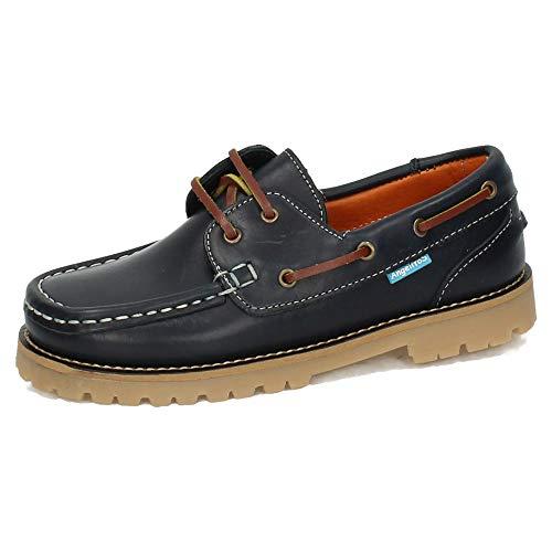 ANGELITOS 805 Zapatos NAÚTICOS NIÑO Zapatos MOCASÍN Marino 36