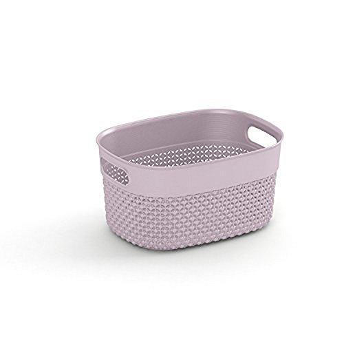Bel Casa Filo Series Dessert Rose Laundry Basket, 3.5 Litre