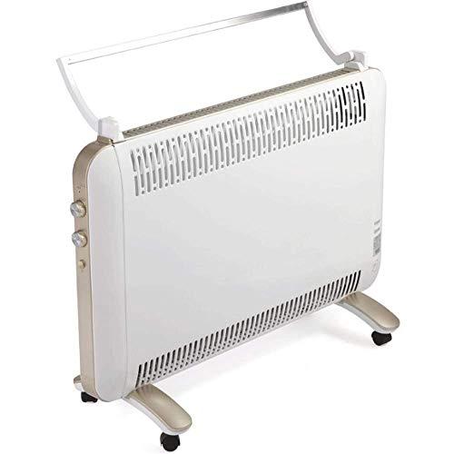 Seeksungm riscaldatore, radiatore portatile di 2000w, riscaldatore elettrico economizzatrice d'energia verticale, essiccamento e umidificazione a distanza, 12 ore timer bianco