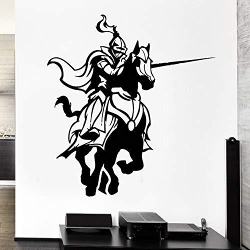 he Ritter Fightinghorse Aufkleber Wohnzimmer Wandtattoos Home Dekorative Kunst Wandbild Tapete 60X42Cm ()