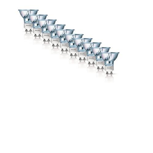 5 x 2er Pack Philips Half Twist Lampe Halogenglühbirnen, GU10, 35 W, 2 Stück [Energieklasse D]